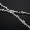 Sterling Silver Faux Diamond Fancy Fashion Necklace