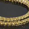 18k Gold Finish Canary CZ 36 inch Double Wrap Necklace