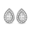 Sterling Silver Fancy Pear Cut Fancy CZ Earrings