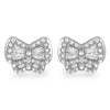 925 Silver Baguette CZ Butterfly Stud Earrings