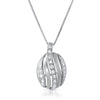 Sterling Silver Modern Oval CZ Necklace