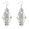 Silver Tone Polished Renaissance Earrings