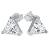 3.50 CTW 7mm Triangle CZ Studs 925 Silver