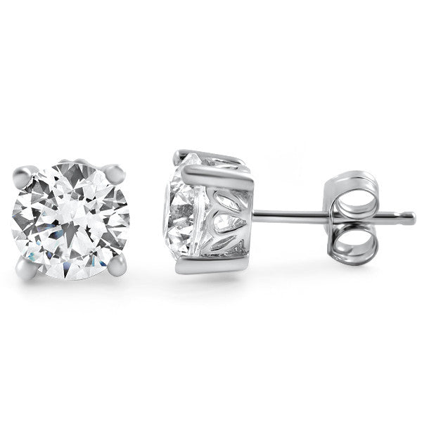 1.68 CTW Cubic Zirconia Studs Floral Setting
