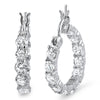 1.32 Carat Simulated Diamond Small Hoop Earrings