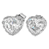 6mm Silver 0.74 Carat Heart Cut CZ in Crown Setting