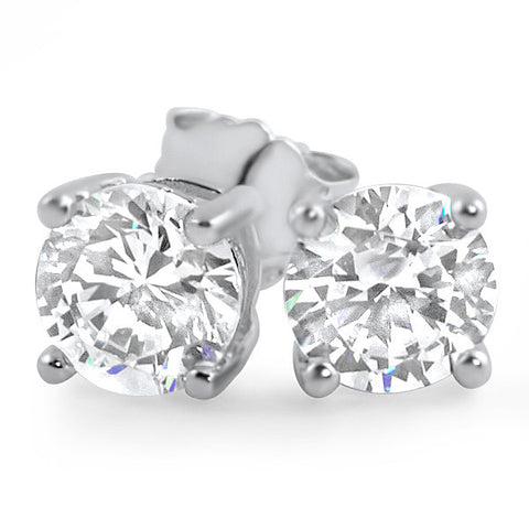 0.92 CTW Flawless Simulated Diamond Round Studs