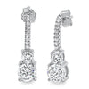 1.88 CTW Graduating Simulated Diamond Drop Earrings