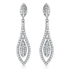 925 Silver Micropave Teardrop Dangling Earrings