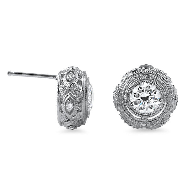 2.50 CTW Vintage Sterling Silver CZ Studs