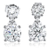 2.25 CTW Simulated Diamond Drop Earrings