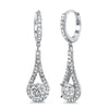 2.02 CTW Simulated Diamond Tear Drop Earrings