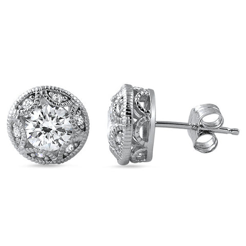 1.20 CTW Vintage Heirloom Stud Earrings