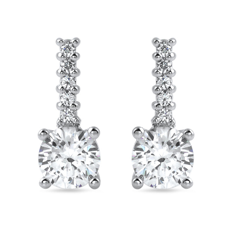 4e22fb89d 1.10 CTW Silver Simple Round CZ Drop Earrings – Jewelure