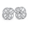 925 Silver Fancy Marquise Cut CZ Stud Earrings