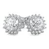 2.24 CTW Flawless 5A CZ Cushion Cut Sunflower Studs