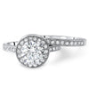 2.25 CTW Round Halo CZ Engagement Ring Set
