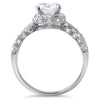 1.70 CTW Pave Split Shank Halo CZ Ring