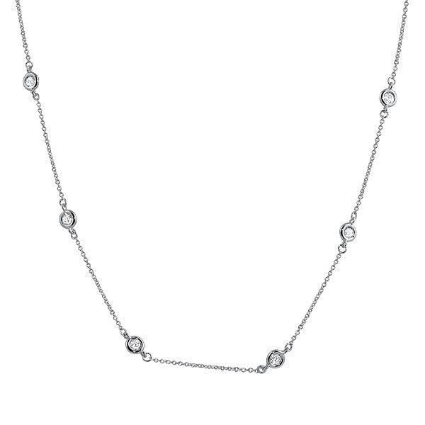 16-18in Sterling Silver CZ by the Yard Necklace
