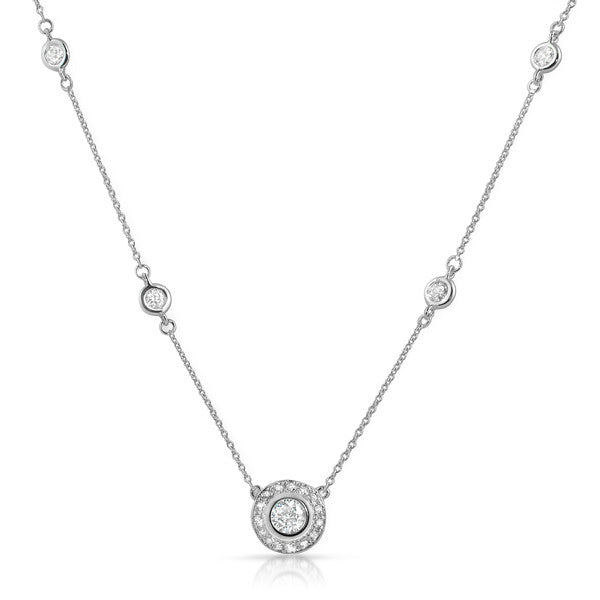 Sterling Silver CZ by the Yard With Bezel Pendant