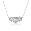 2.05 Carat Triple Halo CZ Pendant Set