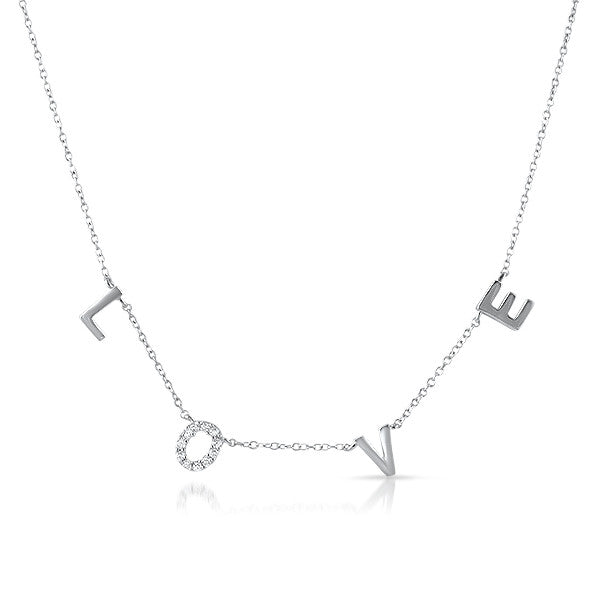 Sterling Silver LOVE Fashion Necklace