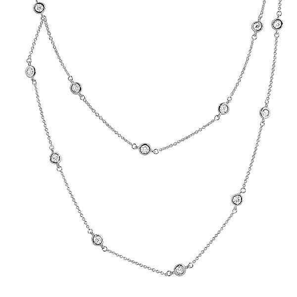 36 inch CZ by the Yard Sterling Silver Necklace