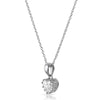 1 Carat Heart Cut CZ Necklace With Crown Setting
