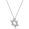 Star of David CZ Pendant With Silver Necklace