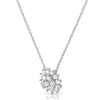 Sterling Silver High Grade CZ Bouquet Necklace