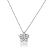 Silver 0.65 CTW Cubic Zirconia Star Necklace