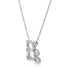 Silver CZ Cubic Zirconia Teddy Bear Necklace