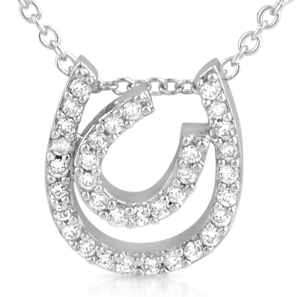 Cubic Zirconia Double Horseshoe CZ Charm Set
