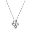 Silver Baguette Designer Flower Necklace Set