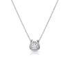 0.50 Carat CZ Horseshoe Solitaire Necklace