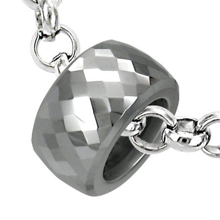 Tungsten Carbide PRISM Round Necklace Set