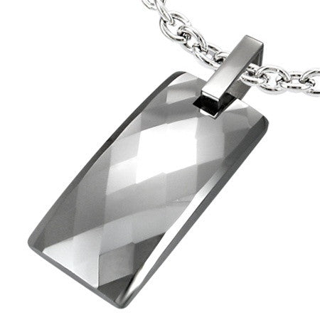 Tungsten Carbide Pineapple Pendant Set