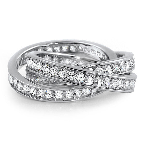 zirconia bands eternity band zoey round cubic cz rings set ladies prong