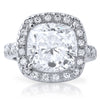 5.5 Carat Cushion Cut Cubic Zirconia Statement Ring