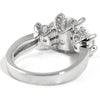 2.75 CTW 3 Stone Engagement Ring in Tulips Setting