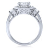 2.15 CTW Fancy Octagon Halo CZ Engagement Ring