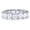 6.5 CTW Oversized Princess Cut CZ Eternity Band