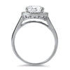 3 CTW Flawless Oval CZ Halo Ring
