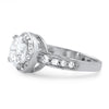 3.10 CTW Sterling Silver CZ Halo Engagement Ring
