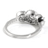 1.30 CTW Three Stone Halo Cubic Zirconia Ring