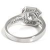 3.35 CTW Asscher Cut CZ Halo Right Hand Ring