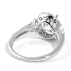 2.90 CTW Oval Cut Cubic Zirconia Silver Fashion Ring