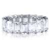 13 CTW Emerald Cut Oversized Cubic Zirconia Band
