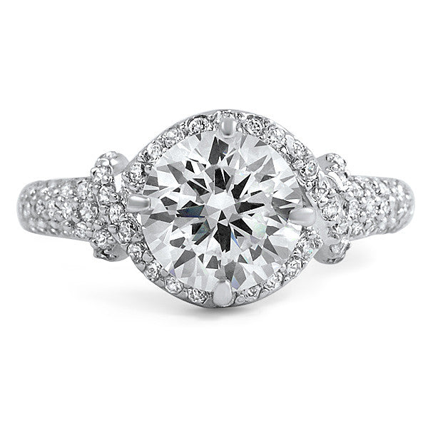 2 Carat Flawless 5A CZ Woven Engagement Ring