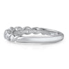 CZ Braided Sterling Silver Fashion Band
